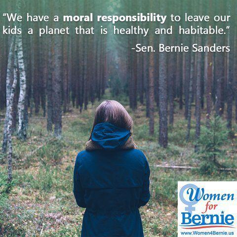 "Senator Bernie Sanders for President!  ""We have a moral responsibility . . . """
