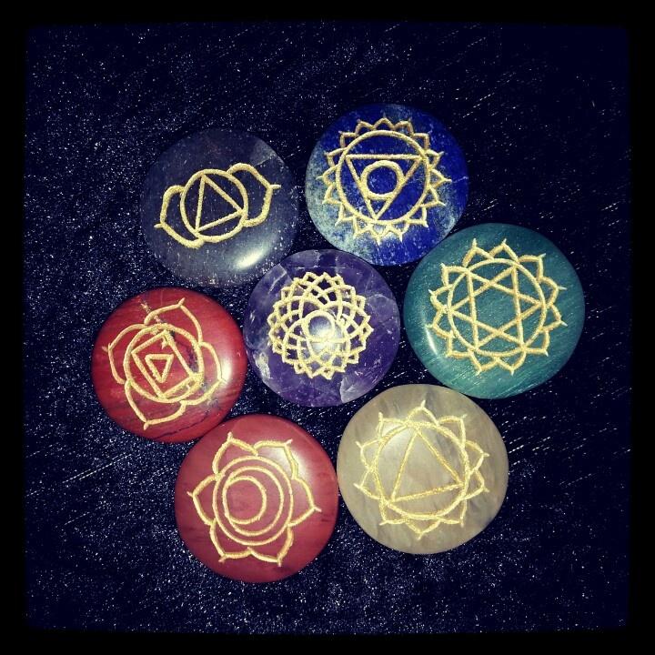 Lovely gem stone chakra set