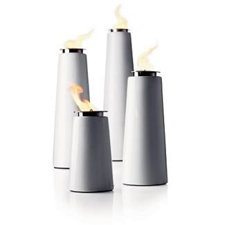 Lighthouse Outdoor Torch, Inspired by Scandinavian Lighthouses, the torches are clean and modern.