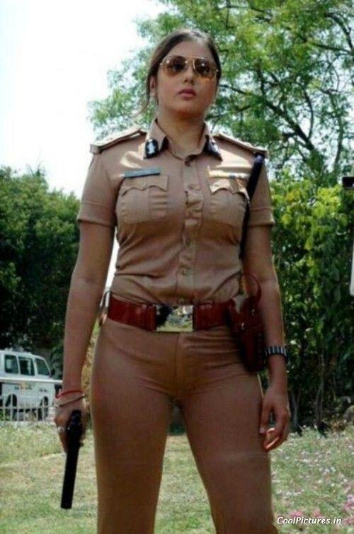 Beautiful lesbian police officer pleased by brunette hottie 7
