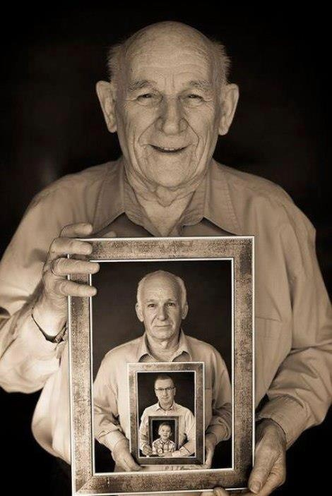 4 Generations... Love this idea for fathers day