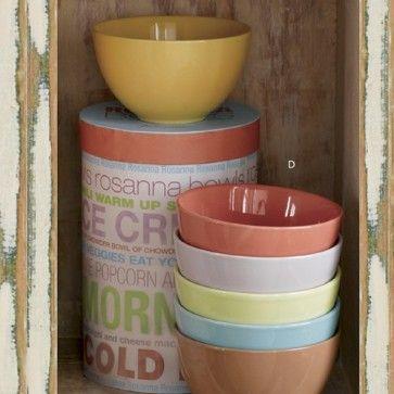 Conjunto com 6 Bowls coloridos - Rosanna