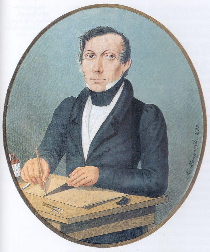ANTONÍN LANGWEIL (1791 Postoloprty – 1837 Praha) Selfportrait, quache on ivory, 1830