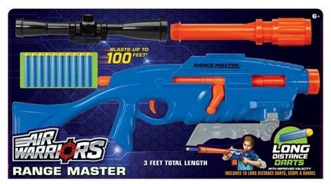 Poof Slinky Buzz Bee Toys Air Warriors Extreme Range Master with 10 Darts