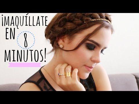 MAQUÍLLATE DE NOCHE EN 8 MINUTOS ♥ - Yuya - YouTube