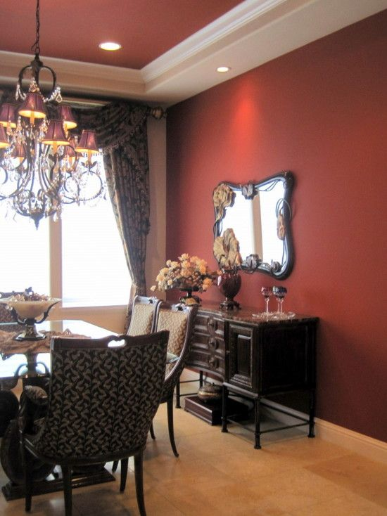 wall colors for living room with brown furniture color palette best 25+ red dining rooms ideas on pinterest | accent ...