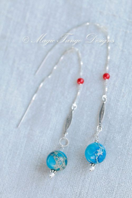 Cuartito Azul Elegant Tender Dangling Blue by MagicTangoDesigns