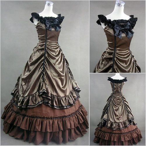 Old west pioneer ball gown saloon girl midwest for Old west wedding dresses