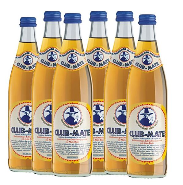 6 Flaschen a 0,5 L Club Mate Tee Clubmate inc. Pfand