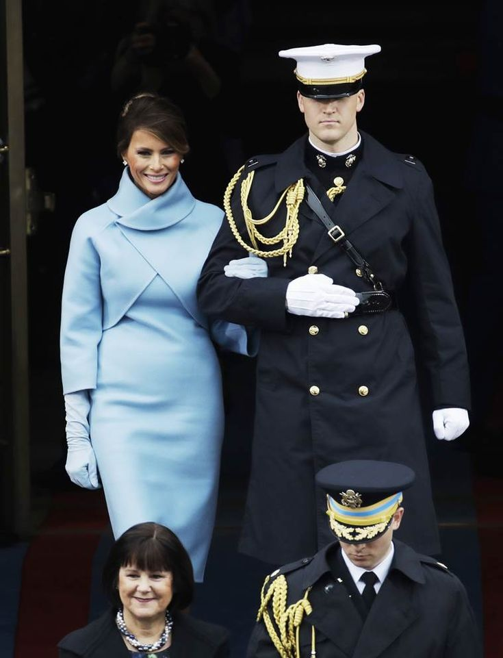 ~ Living a Beautiful Life ~ Donald Trump inauguration: Melania Trump picks a baby blue Ralph Lauren outfit for the swearing-in ceremony | The Indian Express