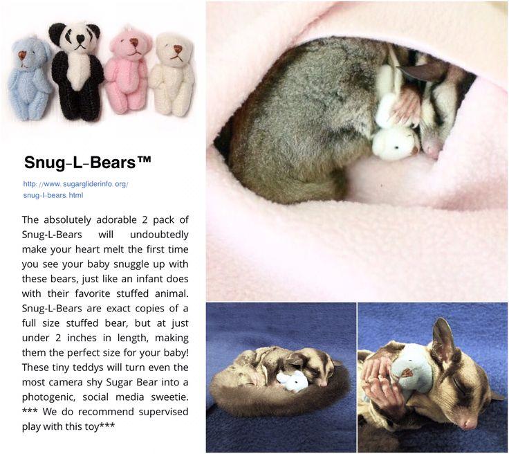 Snug-L-Bears™ | http://www.sugargliderinfo.org/snug-l-bears.html