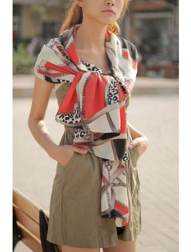 Heart And Chain Printing Long Scarf- extreme comfort and large size when the shawl to use.| Scarf | Accesories | StringsAndMe