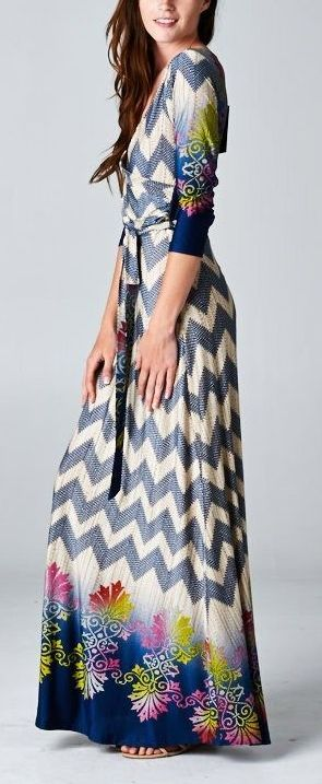 Claire Surplice Dress in Midnight... I'm usually not one for long dresses, but this is cuuuute!