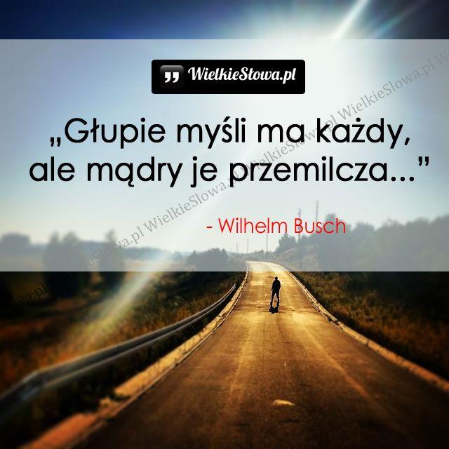 Głupie myśli ma każdy... #Busch-Wilhelm,  #Głupota-i-naiwność, #Mądrość-i-wiedza