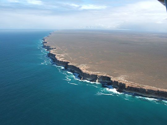 The end of the Earth:  Nullarbor Cliffs, Australia
