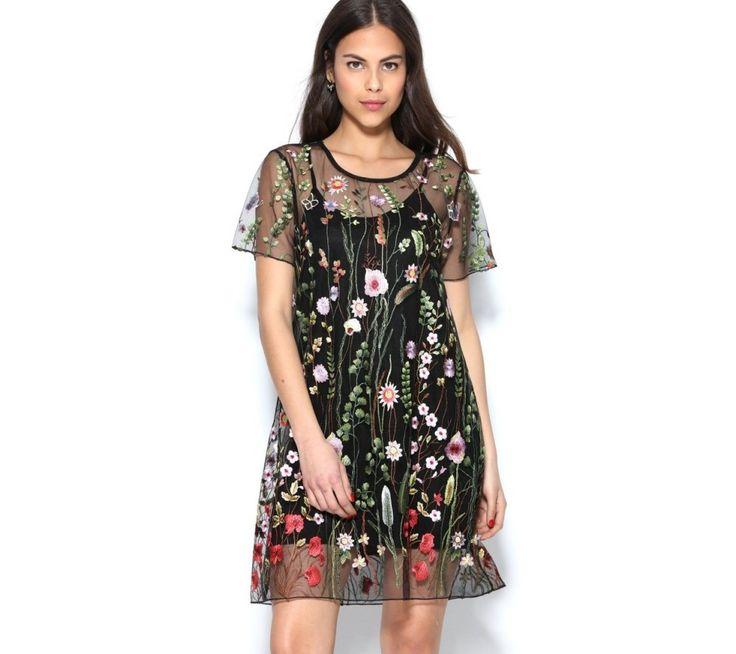 Tylové šaty s výšivkou | modino.cz #ModinoCZ #modino_cz #modino_style #style #fashion #dress