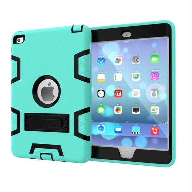 Heavy Duty Shockproof For Apple For iPad Cover Case New For iPad 2 3 4 Case Kids Cover Silicon 9.7inch Tablet Case+Holder