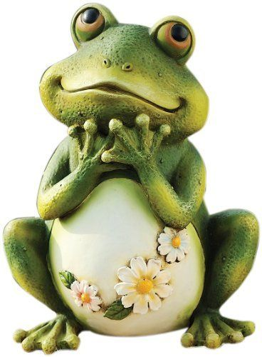 Joseph Studio 65904 Tall Frog Sitting Up Garden Statue, 9.5 Inch By Joseph  Studio