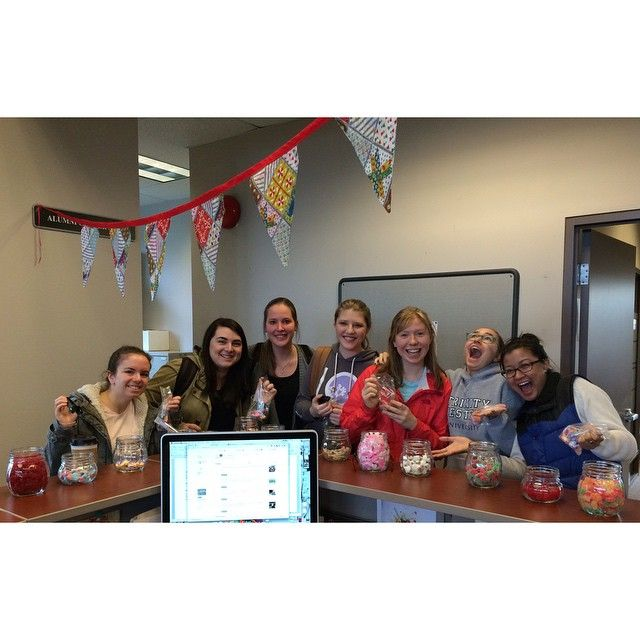 """""""The campus was a happy place today because it was Candy Day in the Alumni Office! #wearetwu #nocandywasleft"""" Photo taken by @twualum on Instagram, pinned via the InstaPin iOS App! http://www.instapinapp.com (03/26/2015)"""