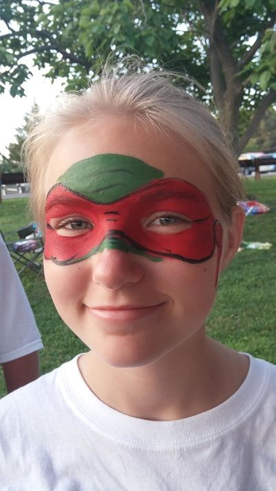 Auntie Annie Face Painting :} Ninja Turtle face Paint!! TMNT