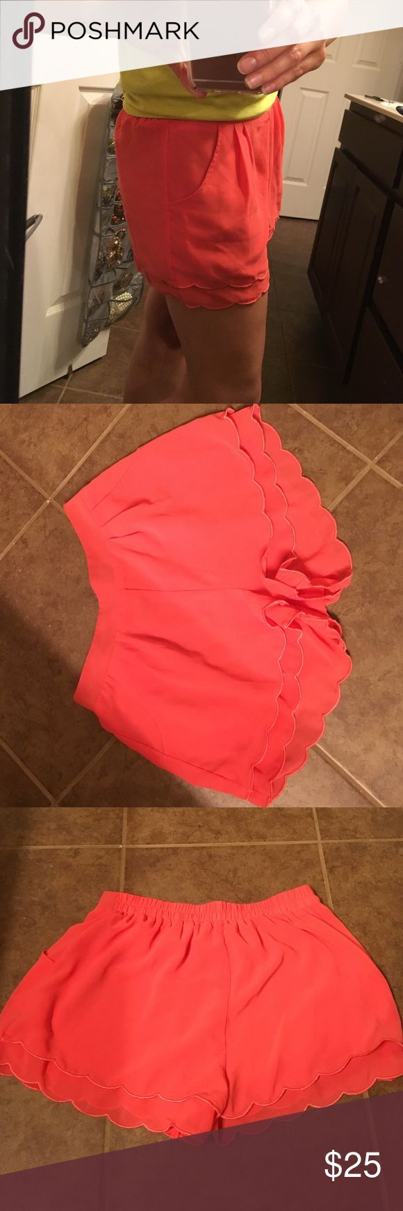 Peach shorts Flowy peachish shorts! Worn once in mint condition! Shorts