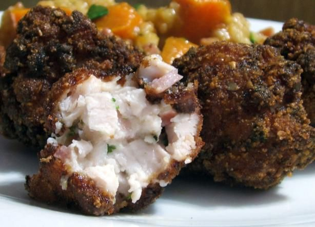 Deep-Fried Bacon, Chicken and Cheese Balls from Food.com:   These are a great starter that will keep the whole family happy, including the kids! A recipe I knocked up for my 6-year-old son, now we all eat them. Easy to make and great served with some cherry tomatoes.: Food Com, Deep Fried Bacon, Ball Recipe, Fair Food, Cream Cheese, Chicken Ball,  Meatloaf, Cheese Ball, Chee Ball