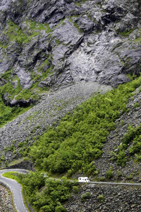 Op weg naar de Trollstigen, Noorwegen.