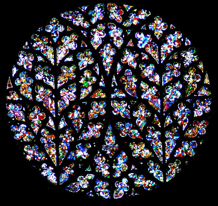 """Lincoln Cathedral """"Bishops Eye"""" Window, Lincoln, England."""
