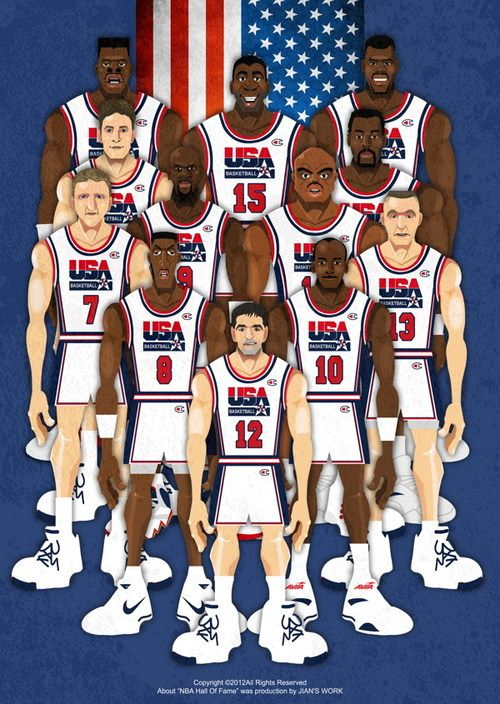 Dream Team #USA #Art #ilustration                     ...