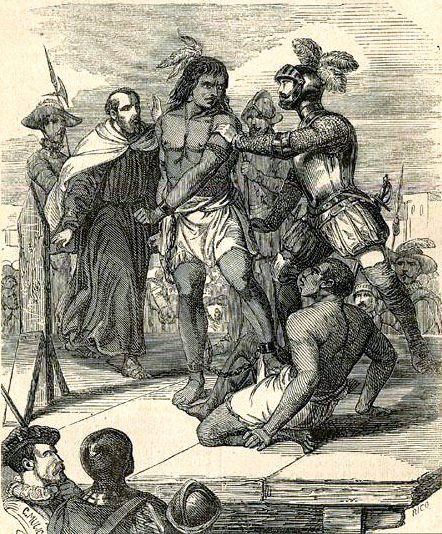 Caupolicán fue ejecutado en la plaza de la ciudad de Cañete el año 1558. El capitán Alonso de Reinoso le condenó a morir en el suplicio de empalamiento, para escarmiento de los indios: mientras el palo iba destrozando sus entrañas, un grupo de indígenas leales a los españoles le lanzaban saetas con sus arcos. No todos sus enemigos estuvieron conformes con este trato.