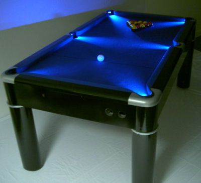 Pool Table With LED Lights In The Pockets.