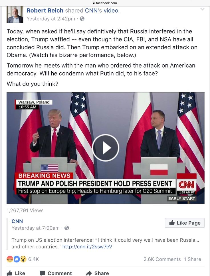 Today, when asked if he'll say definitively that Russia interfered in the election, Trump waffled -- even though the CIA, FBI, and NSA have all concluded Russia did. Then Trump embarked on an extended attack on Obama.   Tomorrow he meets with the man who ordered the attack on American democracy. Will he condemn what Putin did, to his face?