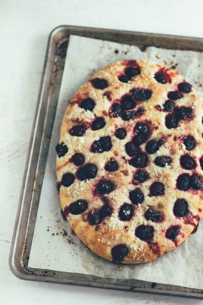 blackberry and basil focaccia