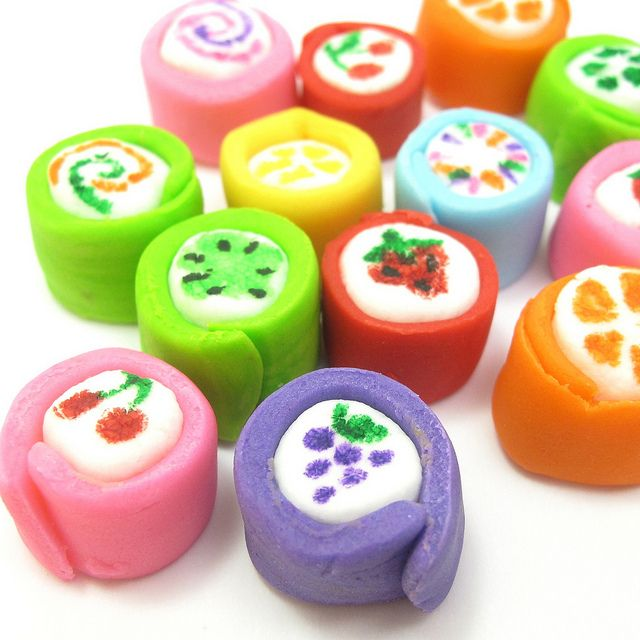 """""""Japanese candy"""" marshmallows 2 by thedecoratedcookie, via Flickr"""