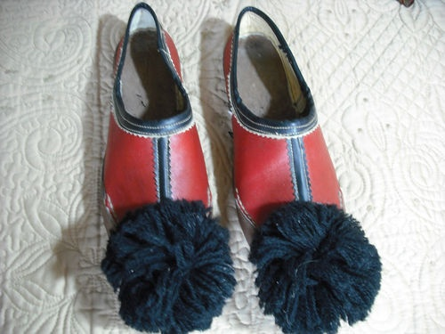 Greek Traditional Folk Costume Evzone Tsarouchia Handmade Leather Shoes Size 39 | eBay