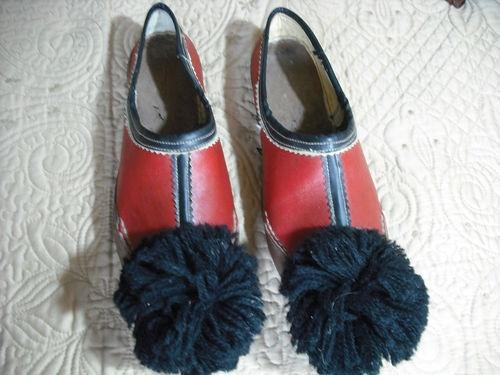 Greek Traditional Folk Costume Evzone Tsarouchia Handmade Leather Shoes Size 39 | eBay