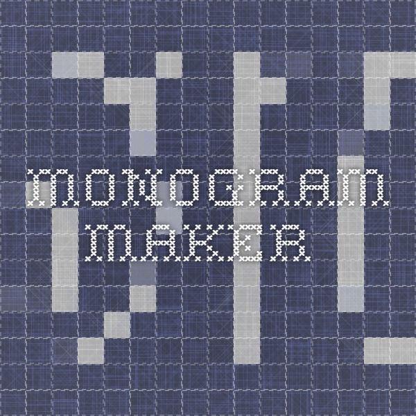 monogram maker machine