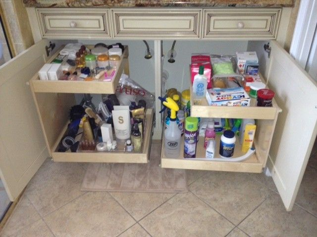 16 best images about cabinets rebuild on pinterest - Under sink bathroom storage cabinet ...