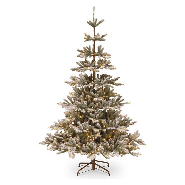 National Tree Company 7.5 ft. Feel Real Snowy Imperial Medium Pre-lit Christmas Tree | from hayneedle.com