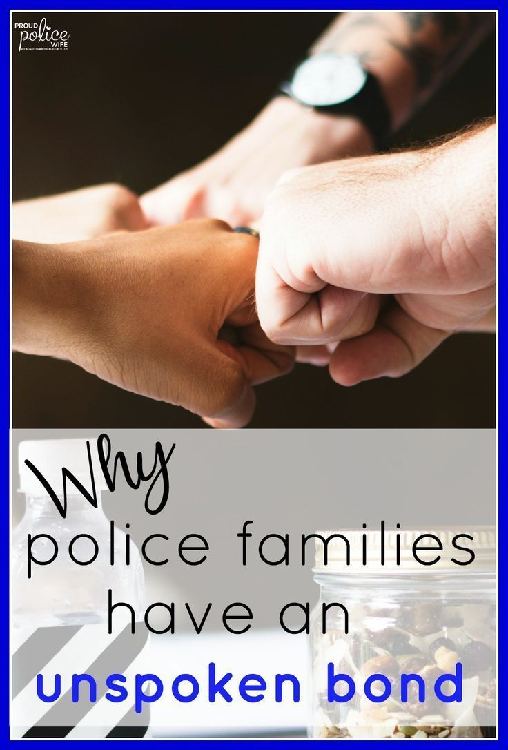 Police families do have an incredible bond. It is one positive thing about this life! I love being a police wife for this reason! #policequotes