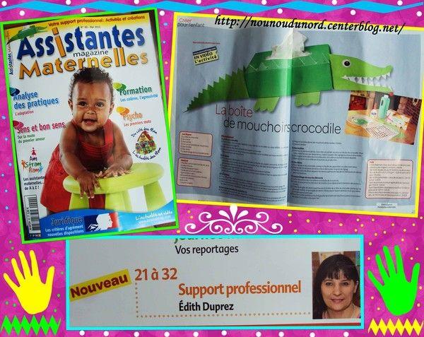 crocodile boîte de mouchoir que j'ai réalisé pour le magazine assistantes maternelles au mois de  mai 2012 dans le n° 90 http://nounoudunord.centerblog.net/4152-creations-dans-le-magazine-assistantes-maternelles-n-128