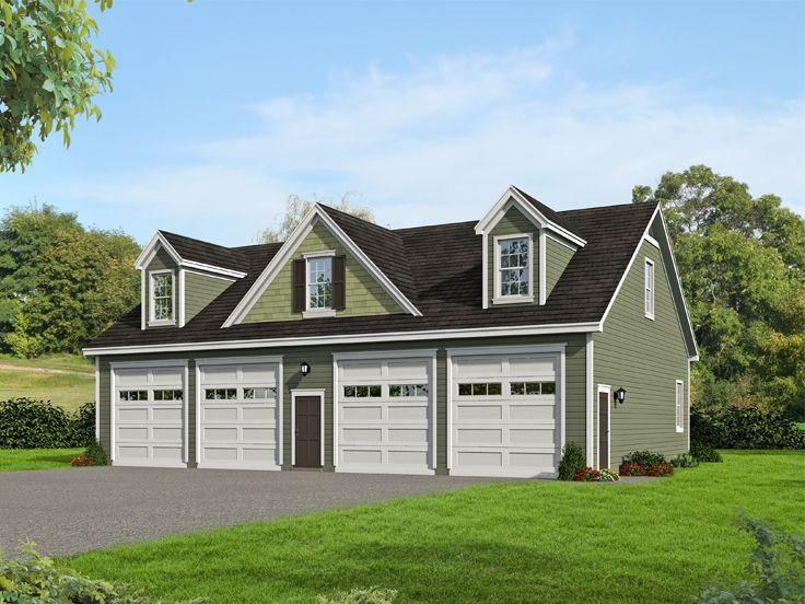 062g 0181 Rv Garage Plan Has 4 Over Sized Bays For Your Boat Rv Or Camper Garage Apartment Plans Garage Plans Garage Plans With Loft