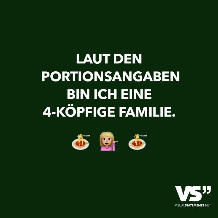 Laut den Portionsangaben bin ich eine 4-köpfige Familie.