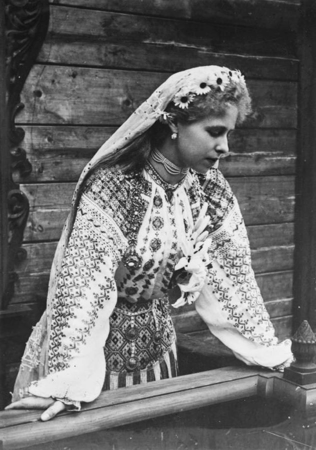 Princess Marie of Romania.  Photograph taken during early 20th century by Ch. Chusseau-Flaviens.  Gelatin on glass.  George Eastman House Collection