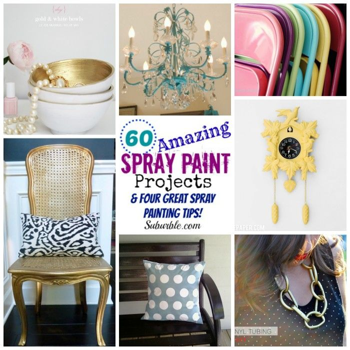 60 amazing spray paint projects four great spray. Black Bedroom Furniture Sets. Home Design Ideas