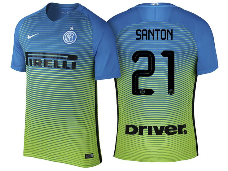 Internazionale Milano #21 Davide Santon 2016-17 Alternate Short Shirt