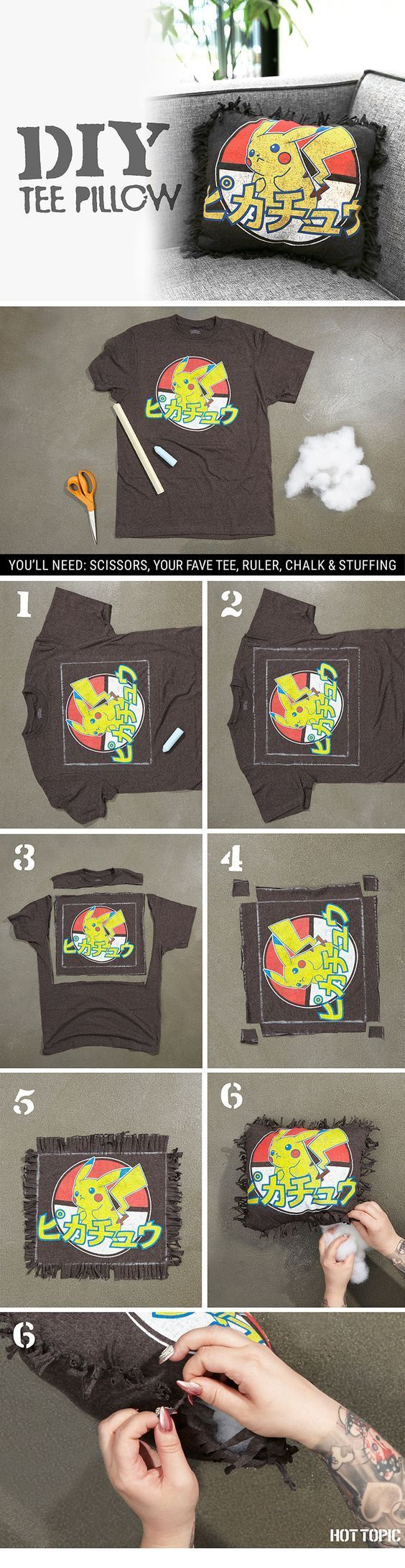Design your own t-shirt craft - 40 Ways To Upcycle Old Clothes Old Tee Shirtsold Tee Shirt Craftsold
