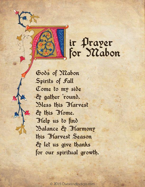Air Prayer For Mabon from OwlsandIndigo.com