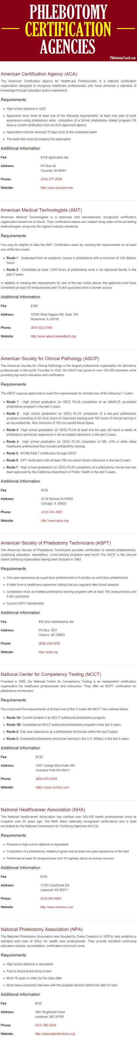 National phlebotomy certification programs that will jump-start your career as a phlebotomist!