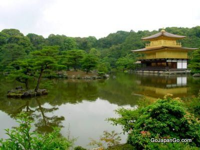 Kinkaku-ji - Golden Pavilion The Golden Pavilion in Kyoto is literally covered in gold leaf http://www.gojapango.com/travel/golden_pavilion.html